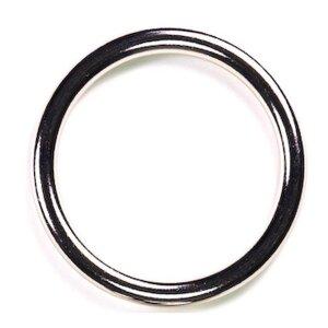 bellavib ® Metall poliert Cockring Penisring rund B:...