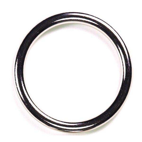 bellavib ® Metall poliert Cockring Penisring rund B: 8mm. D: 50mm Nahtlos