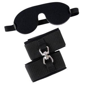 Bad Kitty Handfesseln mit Klettverschluss + Augenmaske
