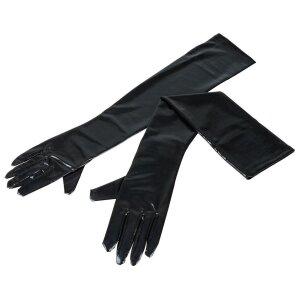 Schwarze extra lange Handschuhe Wetlook...