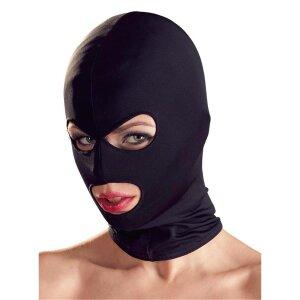 Kopfmaske schwarz Mundfrei Augenfrei Bondage Maske Kopfmaske Fetisch Maske