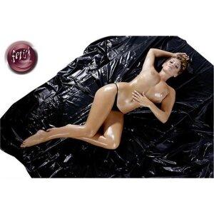 200 x 230 cm BDSM Lack Laken Massage Black Schwarz...