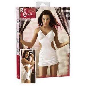 Minikleid Weiß M mit Silberglitzer Red Corner Dress