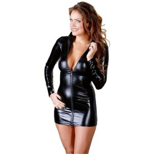Minikleid XL Damen Dessous-Kleid Mini-Kleid Kleid mit...