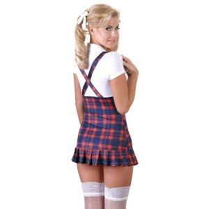Schulmädchen-Kleid L Mini-Kleid Damen Dessous-Kleid Uniform Kostüm in Mehrfarbig