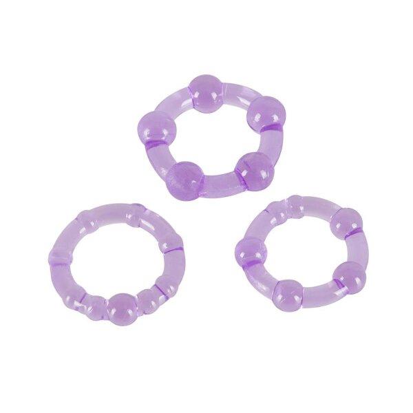 Penisring Cockring Erektion Potenz 3er Set violett