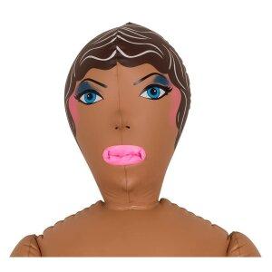 Sexpuppe Liebespuppe Gummi-Puppe Lebensgrosse aufblasbare Liebes-Puppe braun