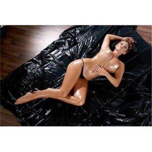 Vinyl Lack Orgy-Laken schwarz 200x230cm Bettlaken
