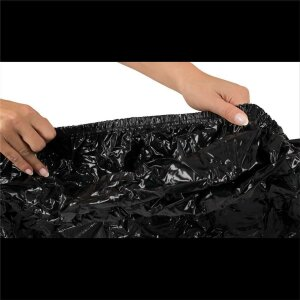 Vinyl Lack Spannbettlaken schwarz 220x220cm