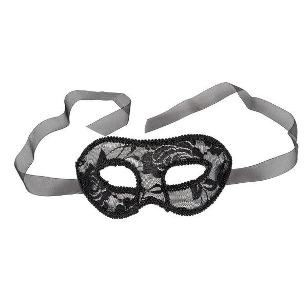Augenmaske mit Spitze überzogen zum Binden Schwarz