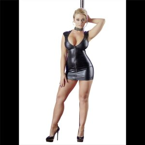 Mini-Kleid XL Damen Kleid Partykleid Minikleid im Wetlook...