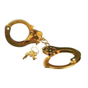 Goldene Metall Handschellen Fesseln FF Gold Metal Cuffs
