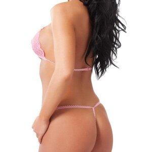 Bikini offen in verführerischen Pink Bikini-Set Gr.S-L