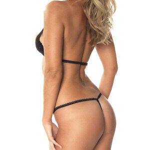 Bikini offen in reizvollem transparentem Schwarz Bikini Gr.S-L