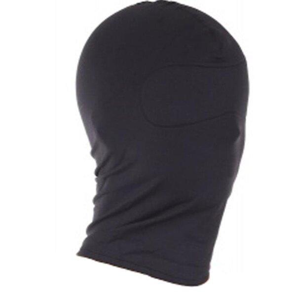 bellavib ® Bondage Voll Kopfmaske Schwarz ohne Öffnung blickdicht Stretch