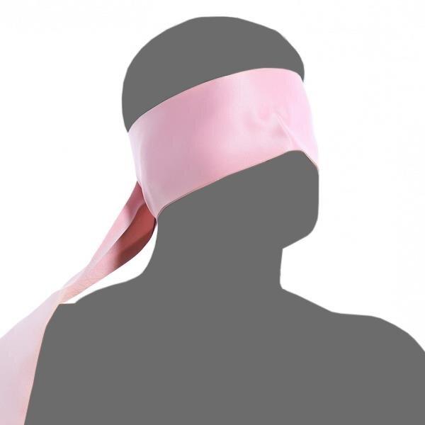 bellavib ® Bondage Stoff Augenbinde Augenmaske Augen Schal Pink