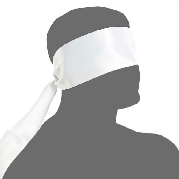 bellavib ® Bondage Stoff Augenschal Augenbinde Augenmaske Augen Schal weiss