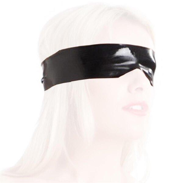 bellavib ® 100% Natur Latex Gummi Augenbinde  sehr dehnbar schwarz