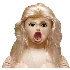 Sexpuppe Liebespuppe Gummi-Puppe aufblasbar mit großen Brüsten Lovedoll Natur