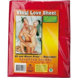 Bettlaken 158x227cm Vinyl rot für feuchte Spiele