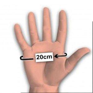 bellavib ® 100% Natur Latex Gummi Domina Handschuhe Klein M