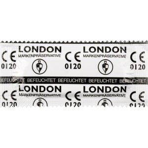 London 100 Kondome feucht transparent Latex Sex Condome Präservative Condoms